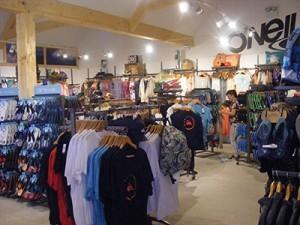 Metal Shopfittings to Display Ladies', Men's and Children's Fashion and Beachwear