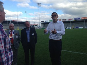 NAS tour Exeter Chiefs ground at Sandy Park