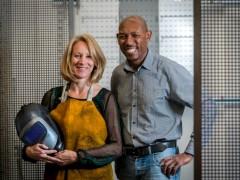 Dymond Shopfittings Directors, Mike Garner & Sue Roberts